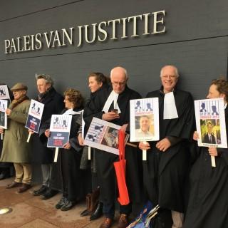 Manifestatie en lezing in Den Haag